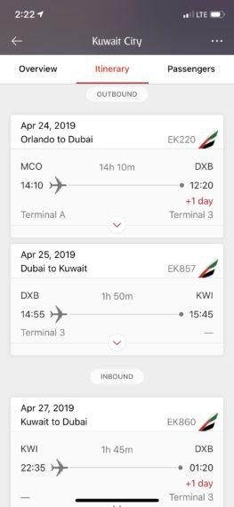 Orlando to Kuwait City