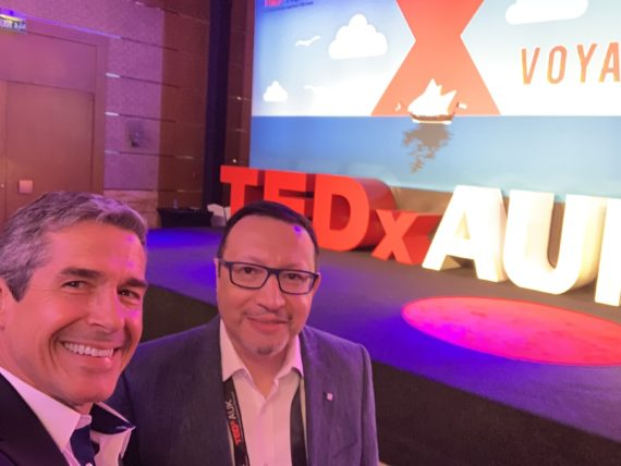 Dr Amir Zeid and jeff noel at TED