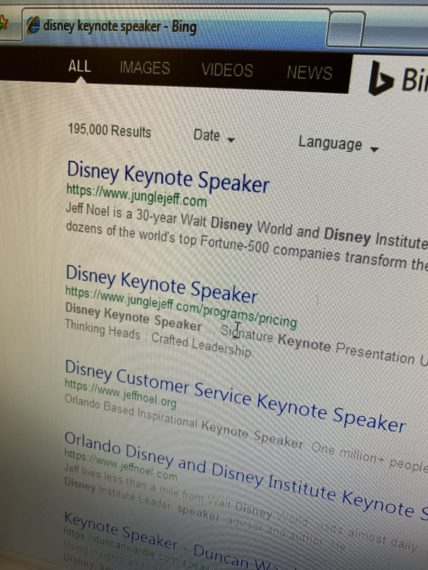 Disney Keynote Speaker search