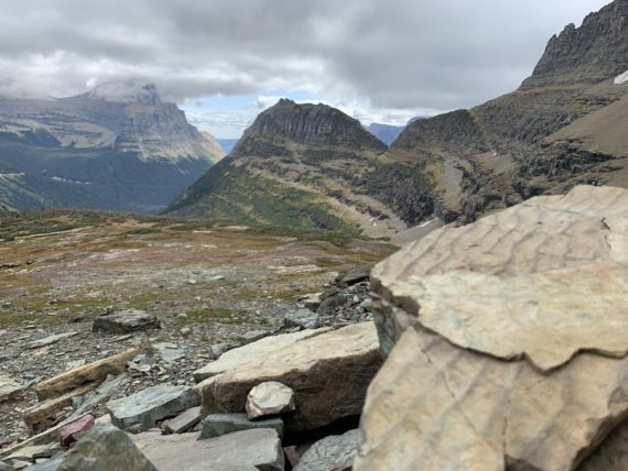 Glacier National Park continental divide vantage point