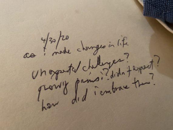 handwritten note to self