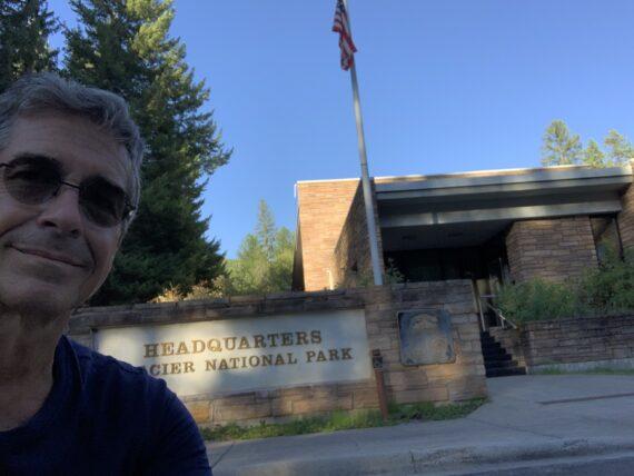 Jeff noel at Glacier National Park HQ
