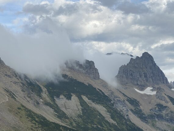 storm clouds on mountains