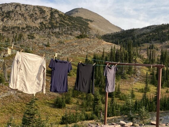 laundry line in mountains