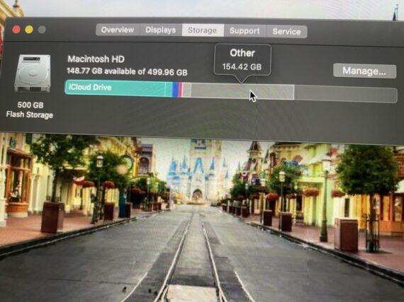 Disney's Main Street photo as laptop screen saver