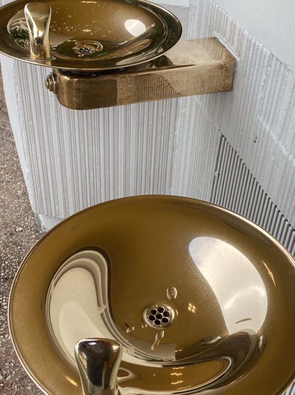 Disney public theme park water fountains