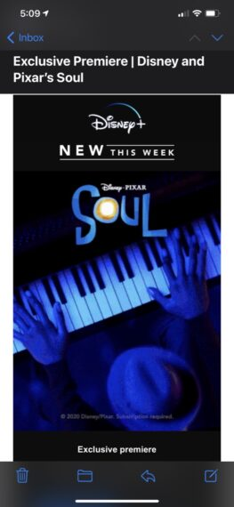 screen shot of Disney+ release