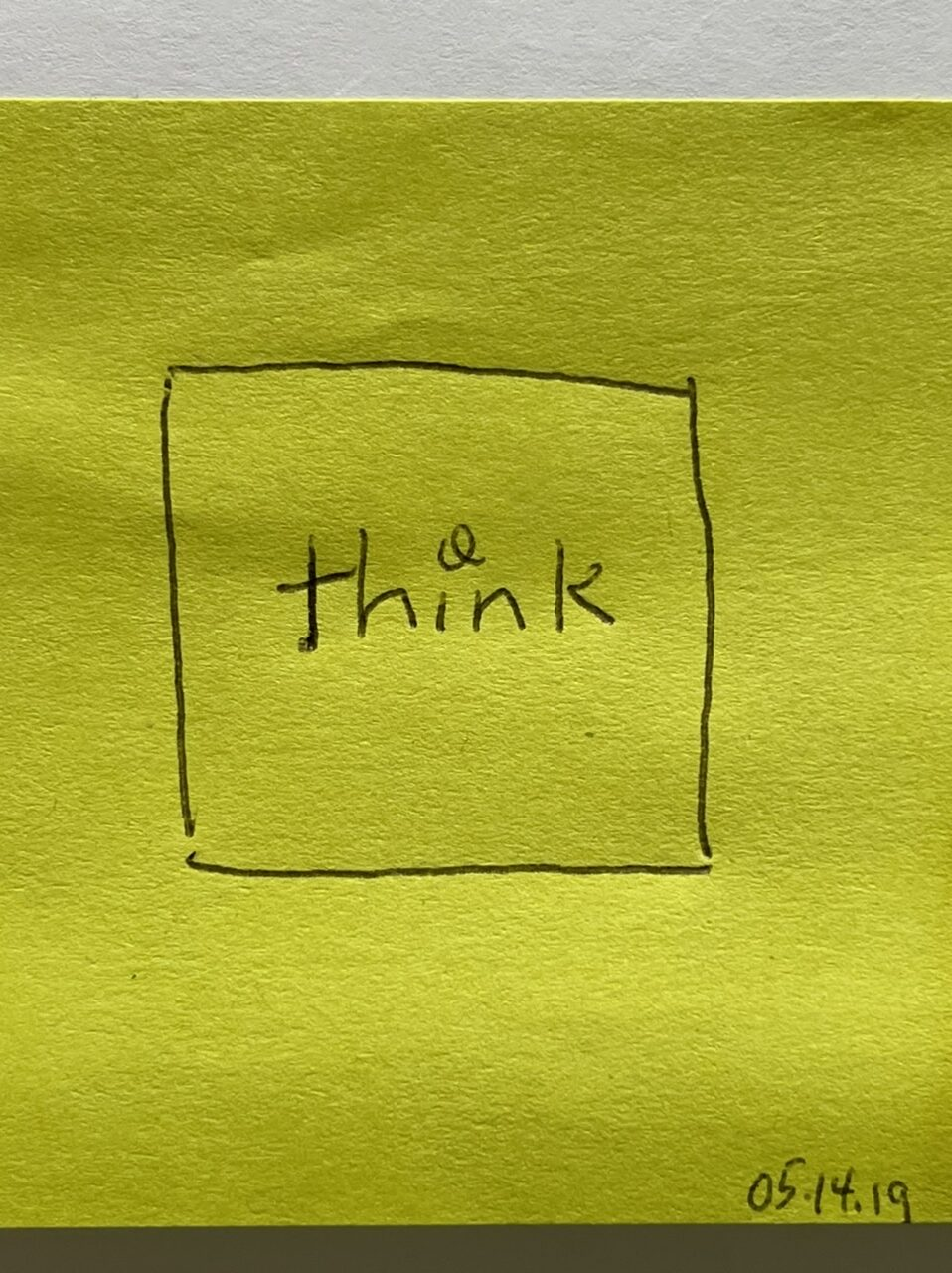 Post it note diagram of thinking inside the box