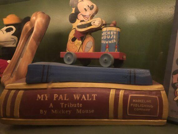 Pretend Disney book in a Disneyland display