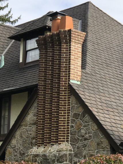 house with unique chimney