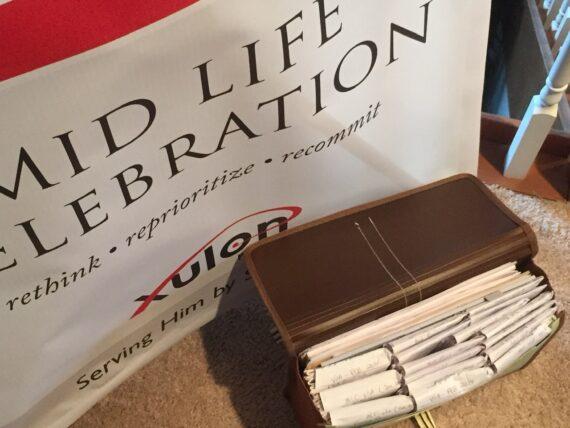 mid life celebration book banner