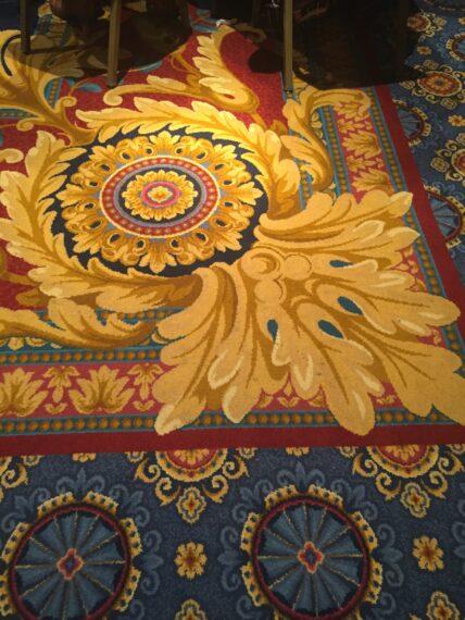 Hidden Mickey in Disney carpet