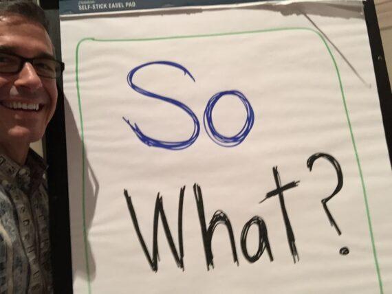 Disney Institute Speaker Jeff Noel with Flipchart message