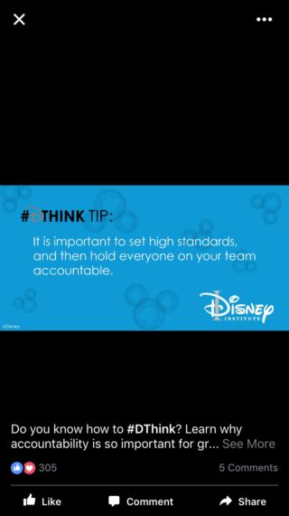 Disney Institute twitter quote