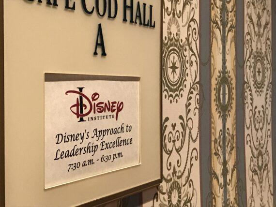 Disney Institute class hallway banner