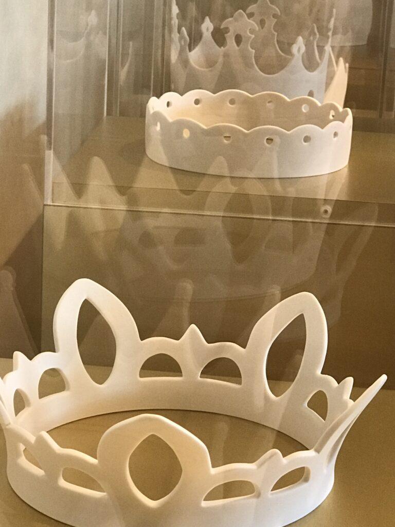 Princess Crown display in glass
