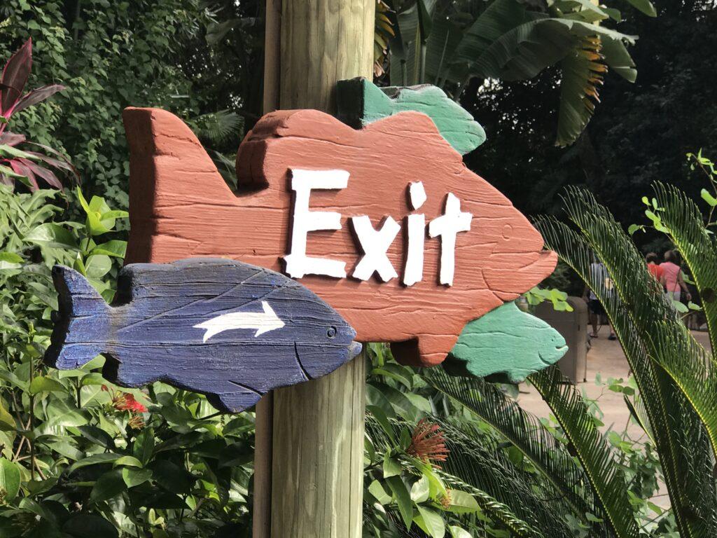 Themed Disney signage