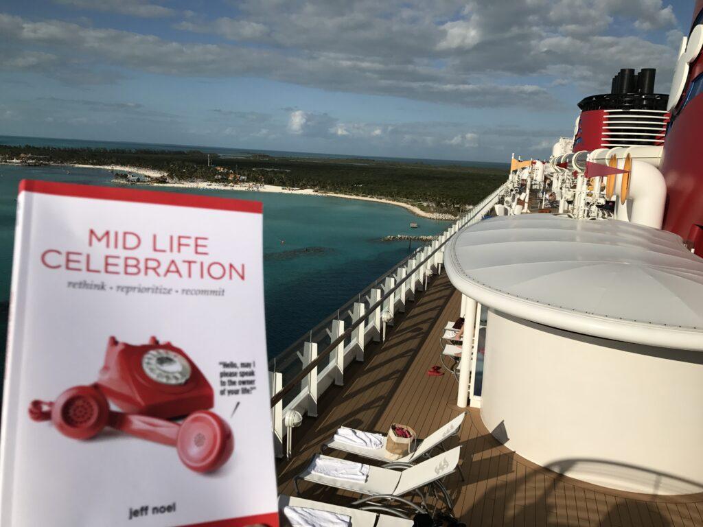 Mid Life Celebration, the book, at Disney Island