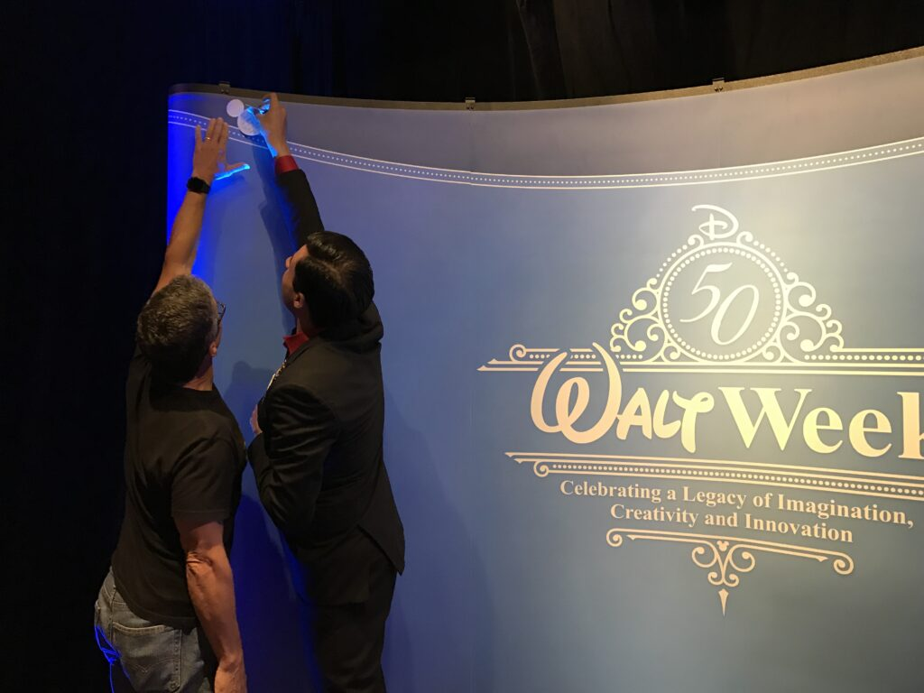 Disney Creativity and Innovation author Jeff Noel at One Man's Dream Attraction