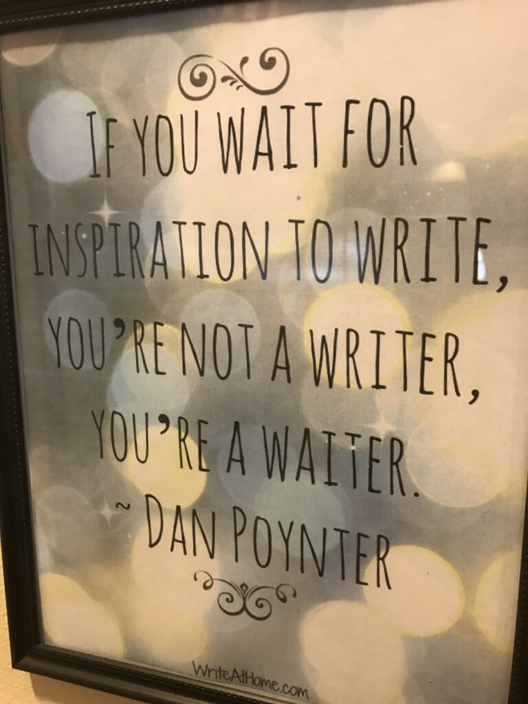 Picture of an important writer message