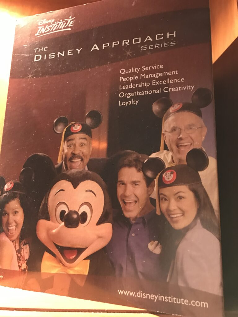 Disney Institute table top marketing piece
