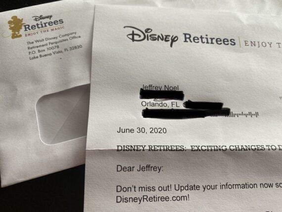Disney retirees mail communication