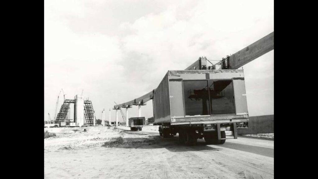 Walt Disney World Resort construction photo