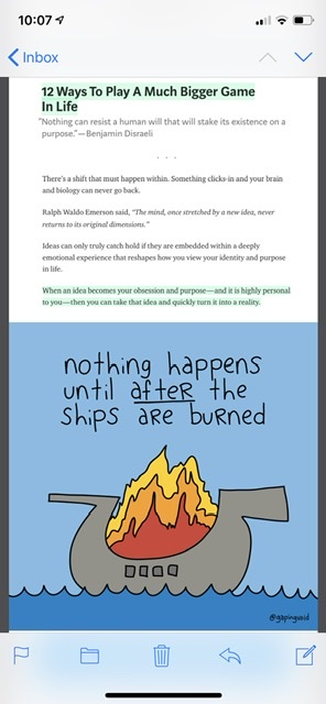 business cartoon with wooden ship on fire