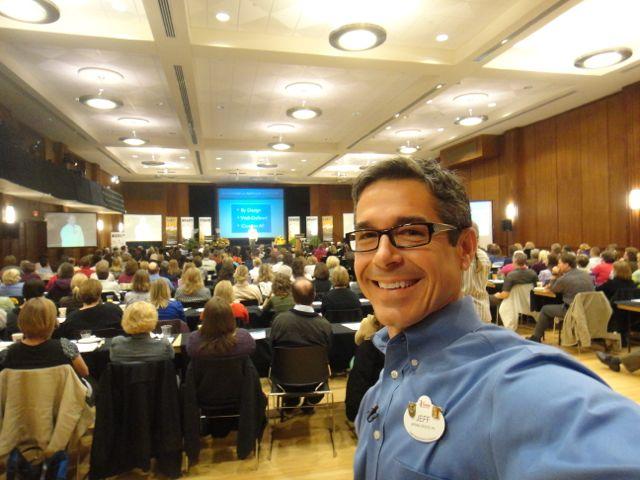 Disney keynote speaker Jeff Noel in back of conference room