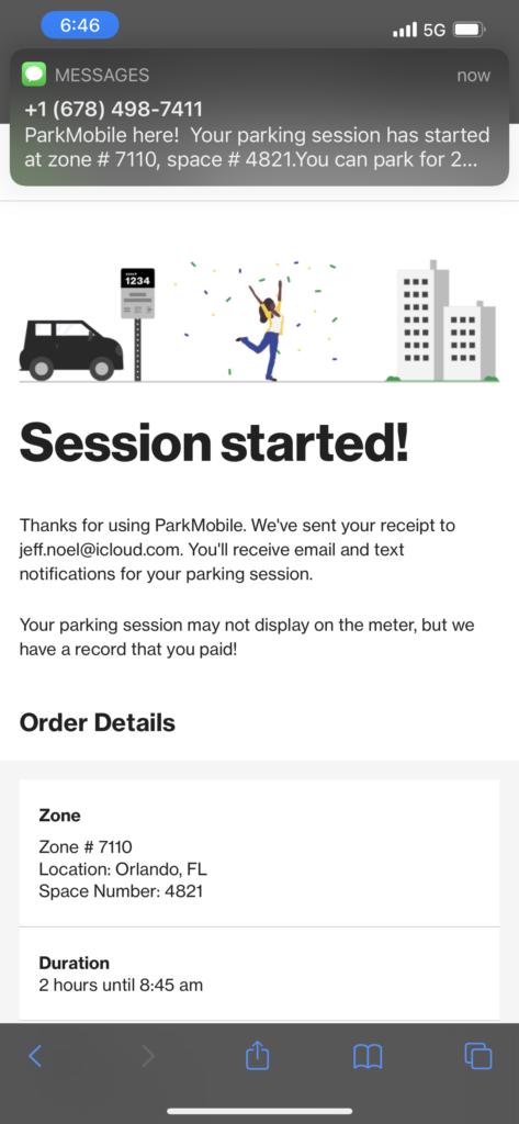 Orando parking meter app